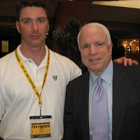 the Late John Keane with Senator McCain