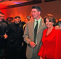 the Late John Keane with Speaker Pelosi