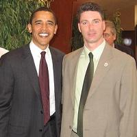 the Late John Keane with Senator Obama